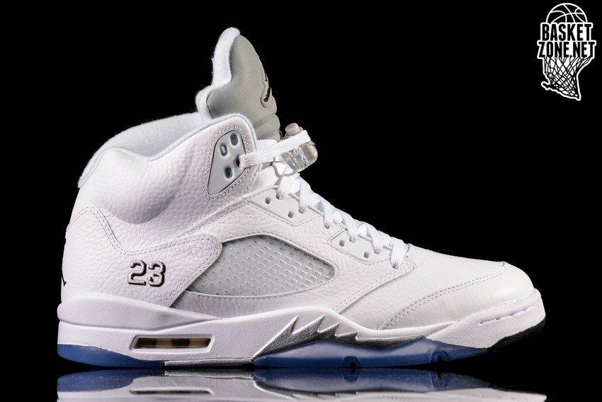a20d08f7ac77 discount nike air jordan 5 retro white metallic silver gs ada15 d472b